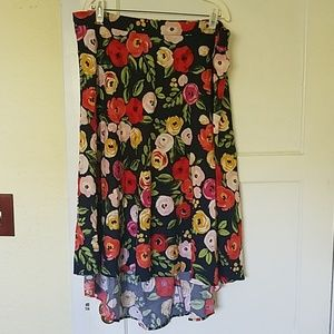 NWT Lane Bryant hi low floral skirt sz 22/24